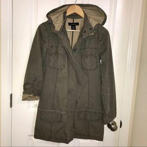 Olive Green CK Utility Coat Jacket S Rain